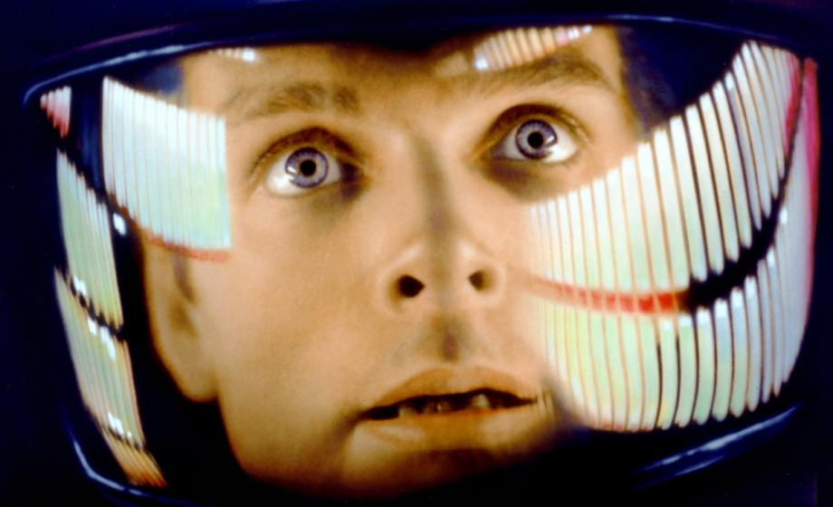 2001: A Space Odyssey - astronaut with helmet on, extreme close up