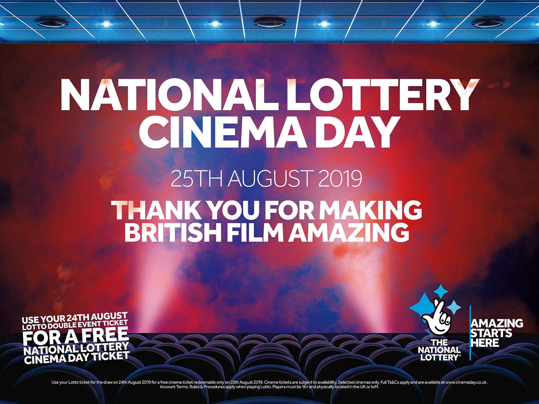 National Lottery Cinema Day 2019