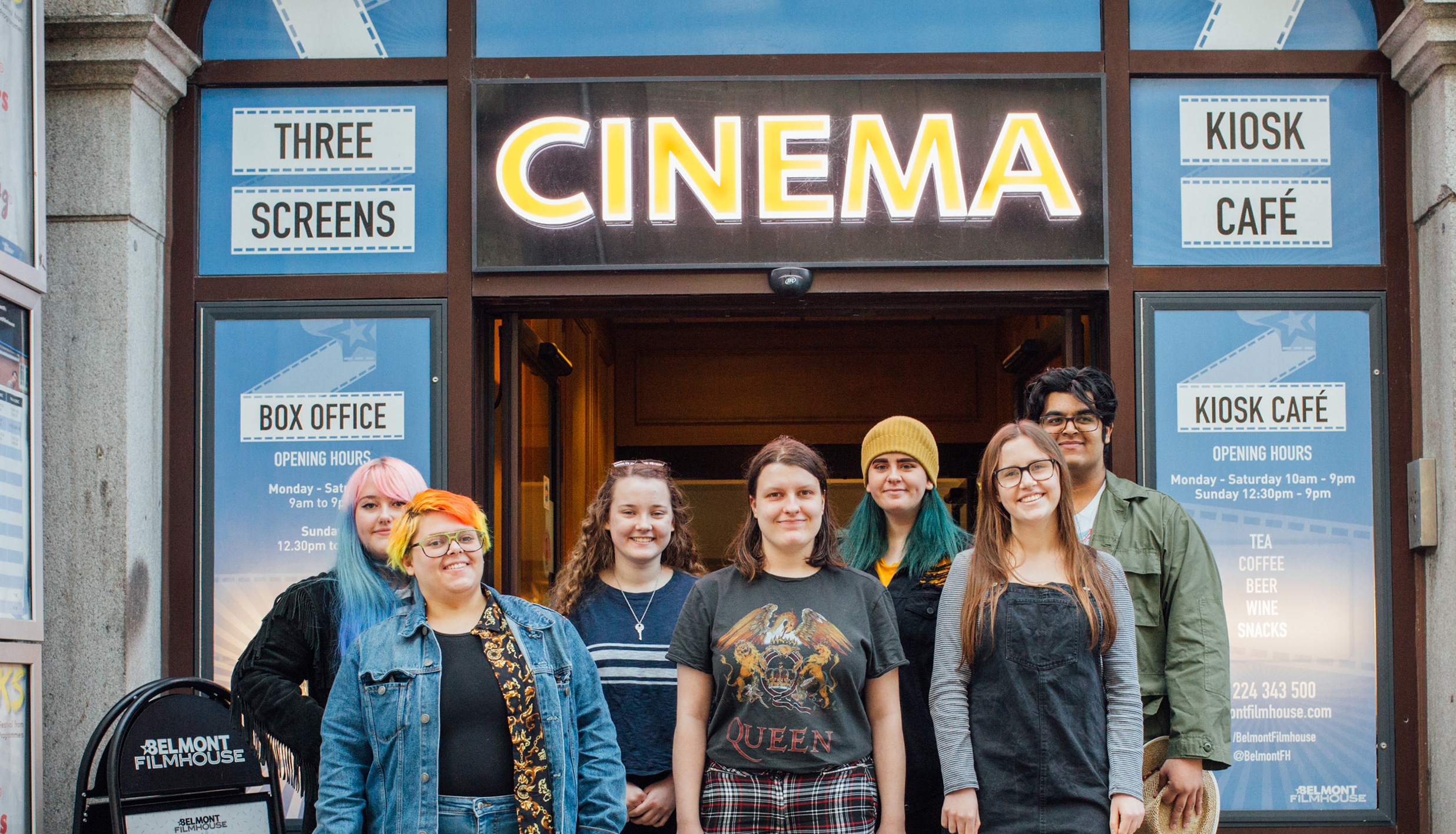 Belmont Filmhouse Young Programmers team