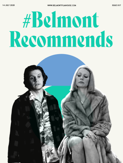 Belmont Recommends newsletter cover issue 17 featuring evan peters in american animals