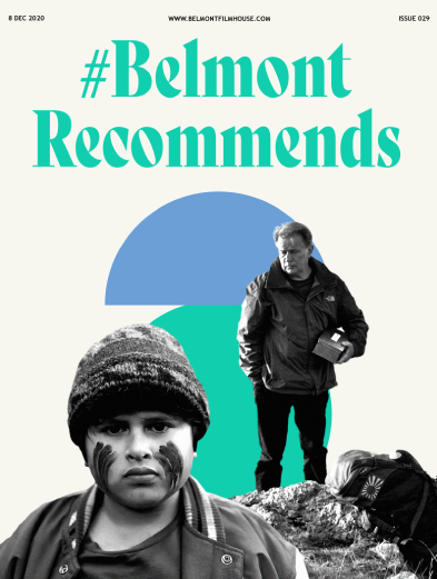 Cover of Belmont Recommends newsletter featuring film stills